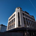 Empty art deco building in Preston