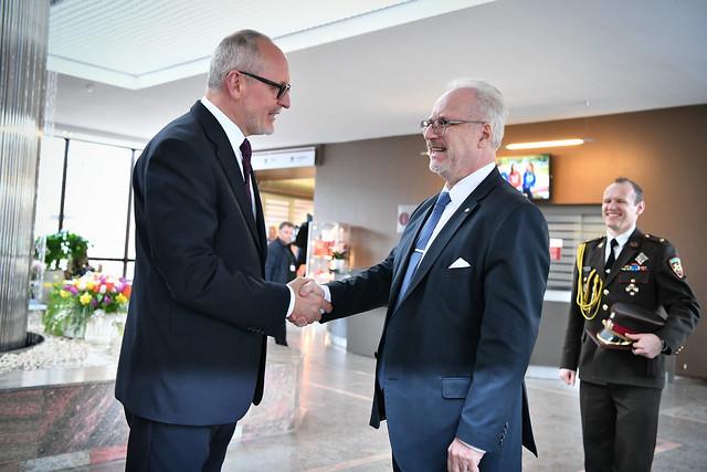 28.02.2020. Valsts prezidents Egils Levits apmeklē Rīgas Stradiņa universitāti