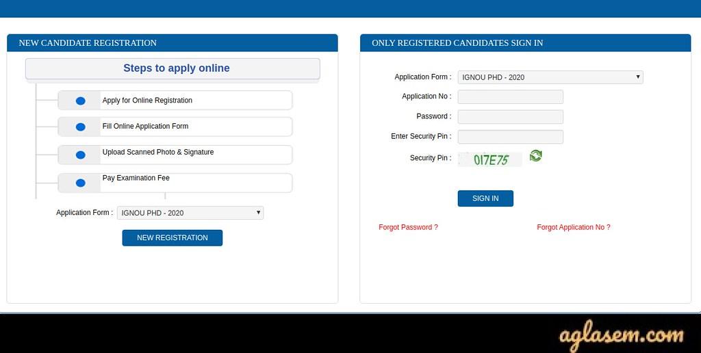 IGNOU PhD 2020 Application Form