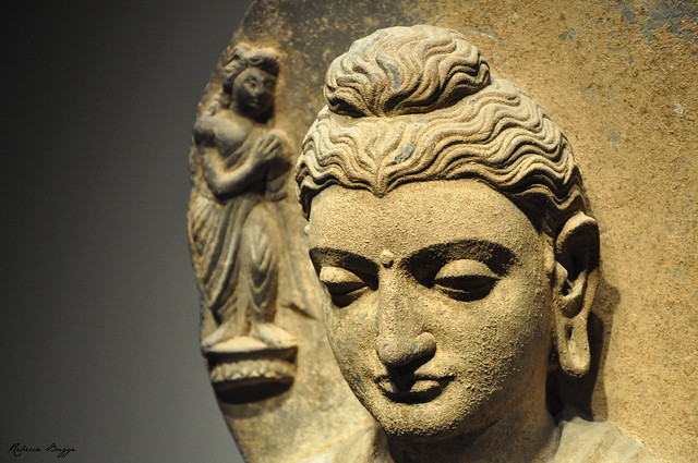 Detail of seated Buddha