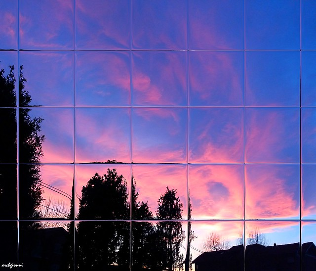 sky on the glass