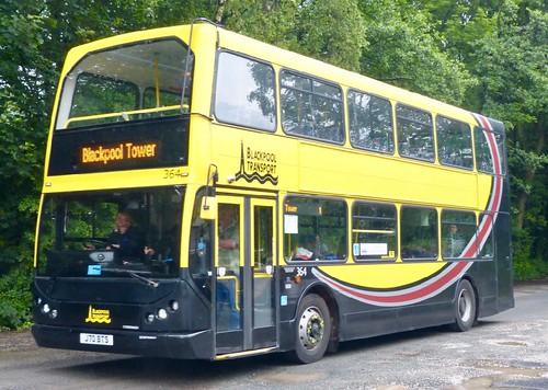 J70 BTS 'Blackpool Transport No. 364. DAF DB250LF / East Lancs Myllenium on Dennis Basford's railsroadsrunways.blogspot.co.uk'