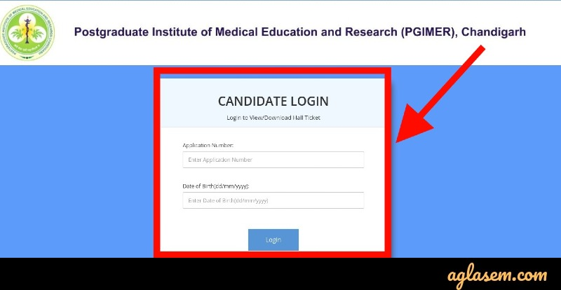 PGIMER Chandigarh LDC Admit Card login