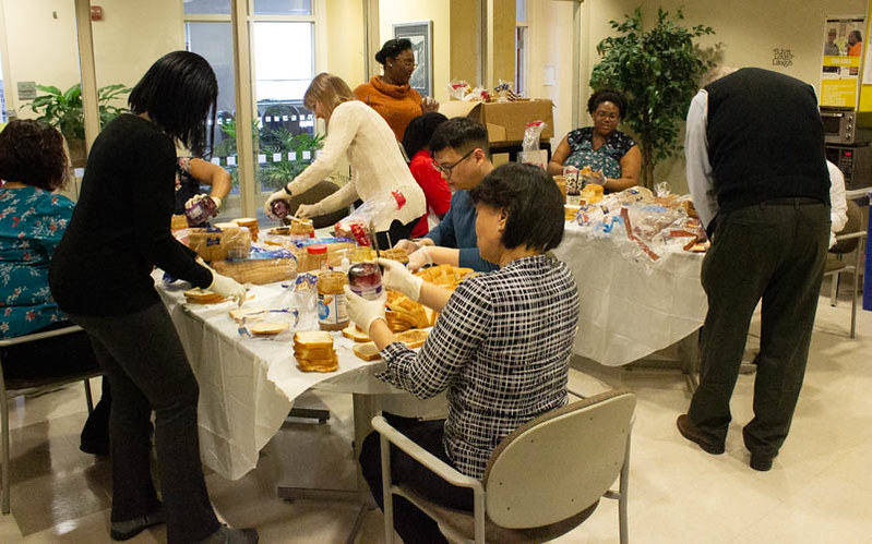 PHSR Hosts Sandwich Making Event for Our Daily Bread (2020)