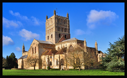 tewkesburyabbey building abbey tewkesbury churchofstmarythevirgin gloucestershire