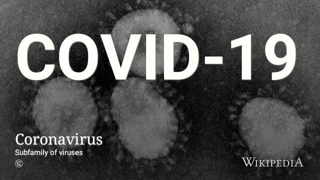 Coronavirus @wikipedia