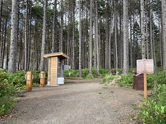 Cape Lookout hiker/biker camping area, now with fancy new bike racks and lockers