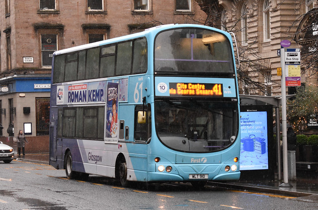 First Glasgow Volvo B9TL 37196