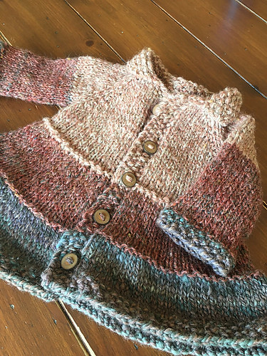 Tiered Baby Coat by Lisa Chemery knit for Sylvie