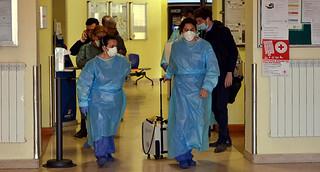 Ospedale di Codogno in cui ' ricoverato il ragazzo che ha contratto il Coronavirus, Pronto soccorso chiuso
