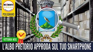 POLIGNANO- L'ALBO PRETORIO APPRODA SULLO SMARTPHONE DI TUTTI I CITTADINI