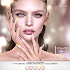 """Alme Mainstore Promo Release + The Saturday Sale Official - SL """"Alme Mesh Nails// Neon Ombre"""""""