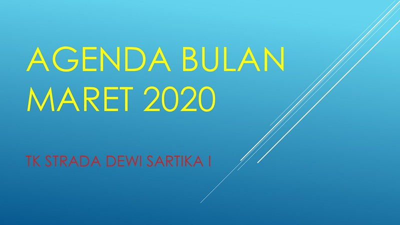 AGENDA BULAN MARET 2020