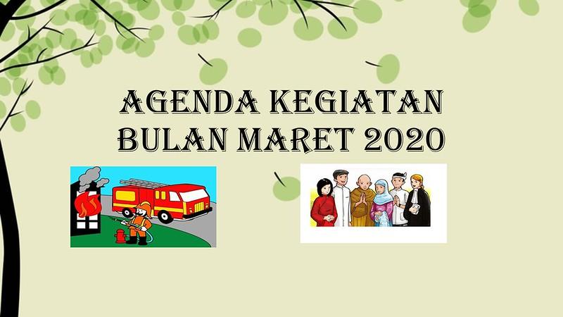 AGENDA KEGIATAN BULAN MARET 2020