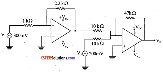 2nd PUC Electronics Previous Year Question Paper March 2019 8