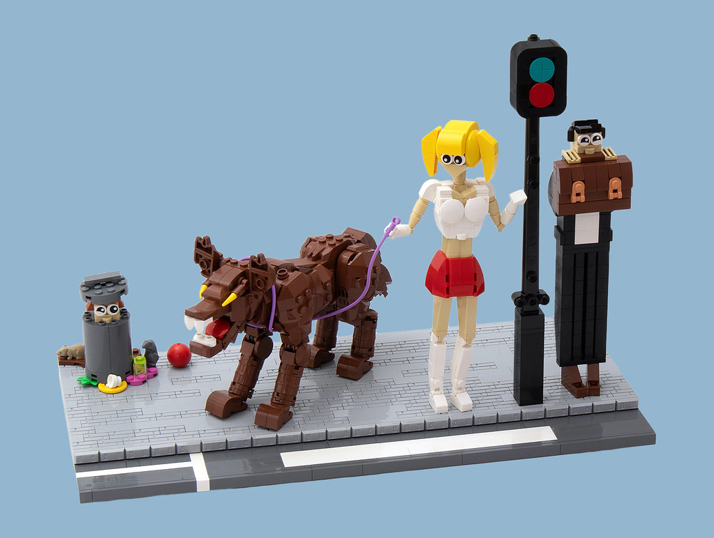 """LEGO® MOC by vitreolum: """"Don't Worry Sugar, He Doesn't Bite!"""""""