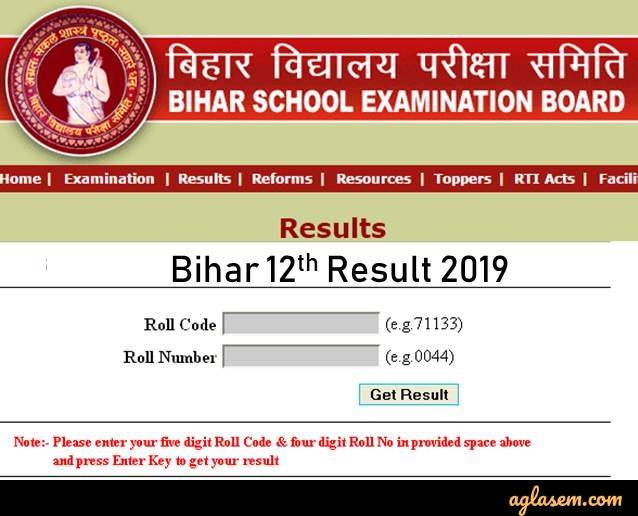 Bihar Board 12th Result Login