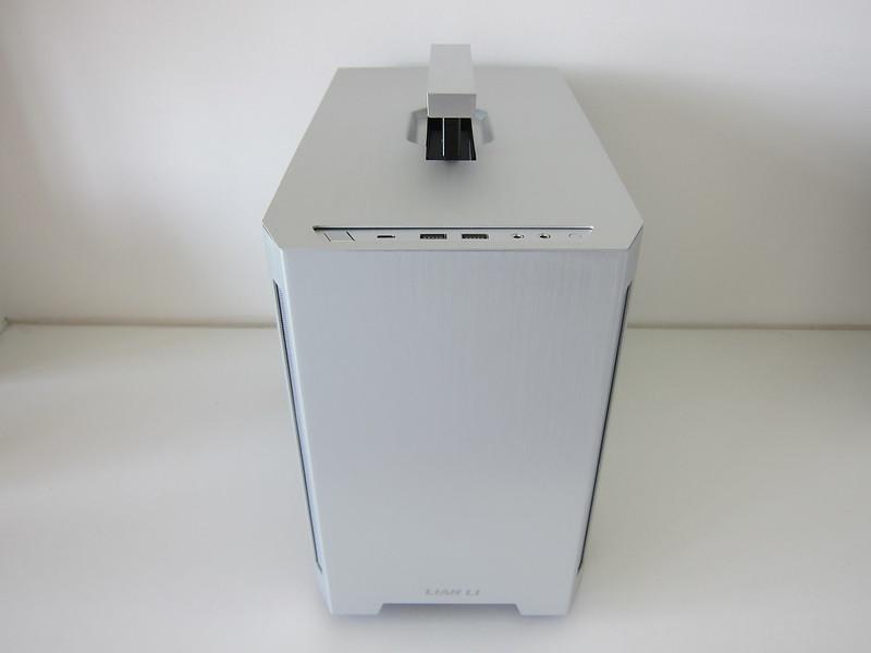 Lian Li TU150 (Silver) - Front - Handle Up