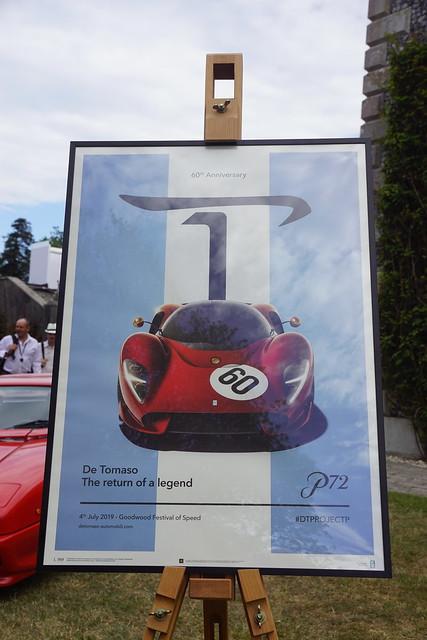 De Tomaso Display, Speed Kings, Motorsport's Record Breakers, Goodwood Festival of Speed