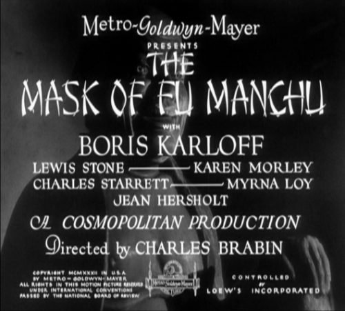 Title still film Le Masque d'or (Charles Brabin, Charles Vidor, 1932)