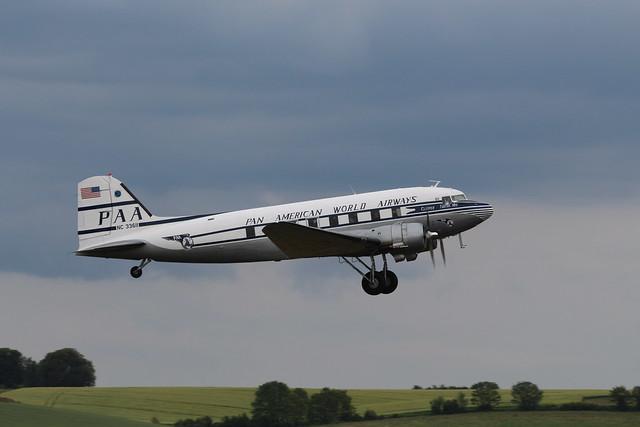 2019-06-05; 0357. Douglas C-47B (1944), N877MG. Mass departure to Normandy. Daks over Normandy, Duxford.