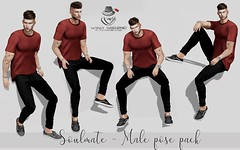 🔥 Hey guys now at Manly Weekend male pose pack for only 50L$ 🔥  TP - http://maps.secondlife.com/secondli…/Griffindor/154/223/1894