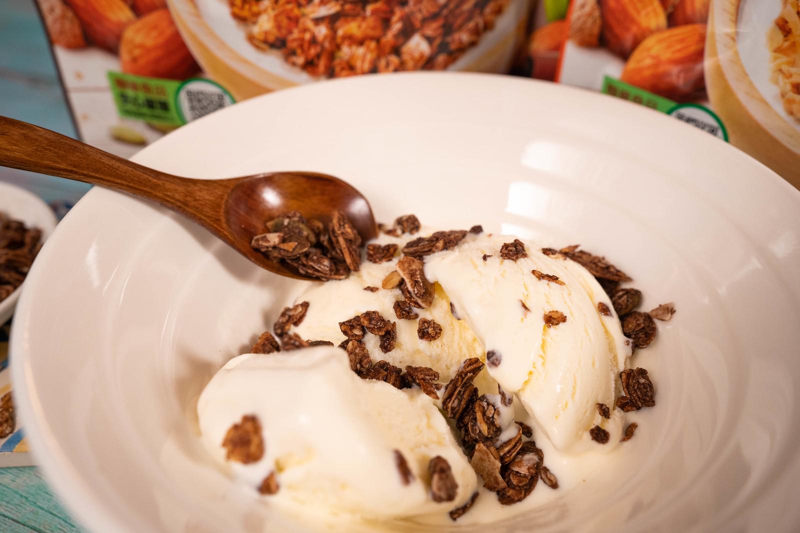 萬歲牌堅穀力 加上冰淇淋