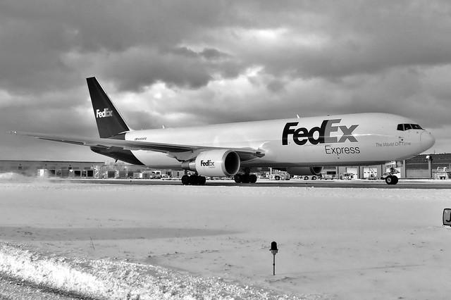 FedEx in black & white...