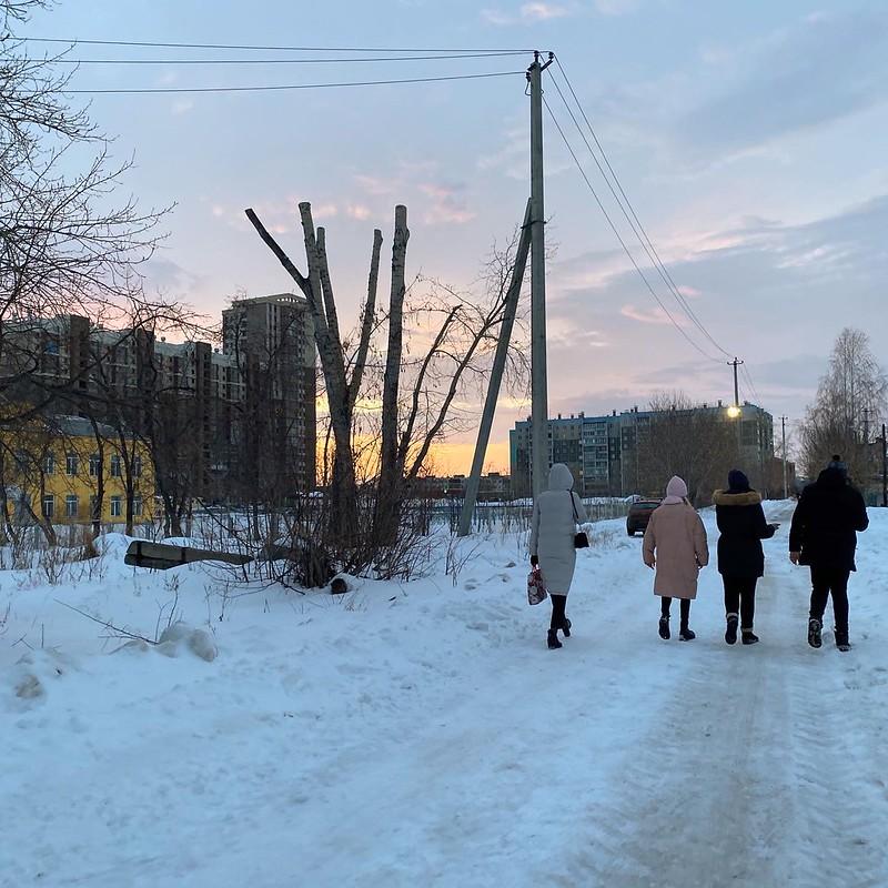 Поселок АМЗ в феврале