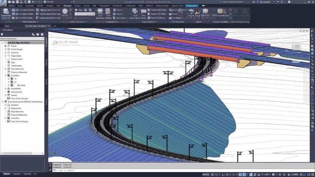 Working with Autodesk Civil 3D 2020.3 full license