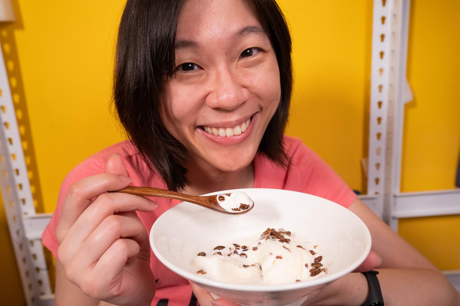 開心吃 萬歲牌堅穀力 加上冰淇淋
