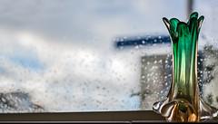 Vase and rain