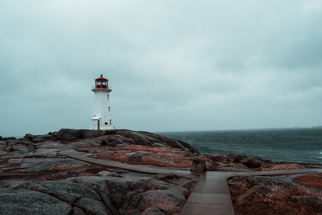 Alone at Peggy's cove...