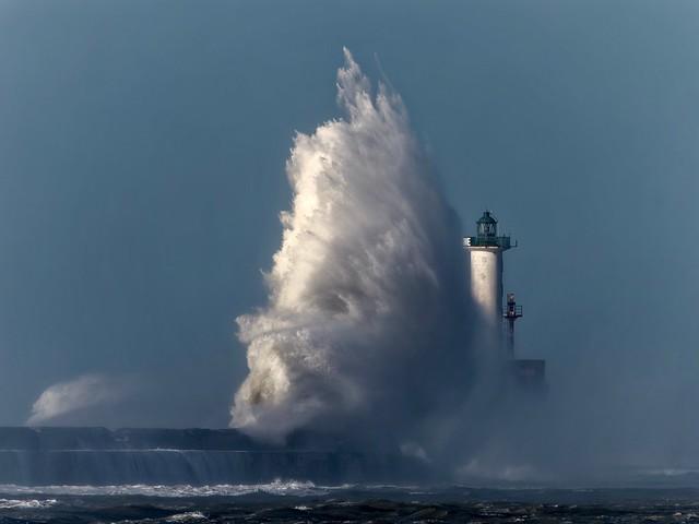 Tempête Jorge à Boulogne/mer