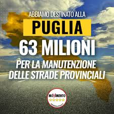 manutenzioni SP Puglia m5s stanzia 63 milioni