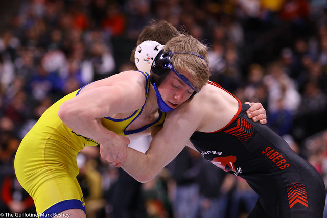 113AAA Semifinal - Blake West (Shakopee) 50-1 won by decision over Parker Janssen (St Michael-Albertville) 44-9 (Dec 3-1) - 200229amk0026