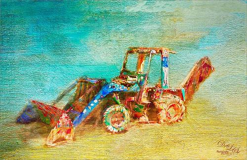 Image of a Bulldozer in the Bahamas