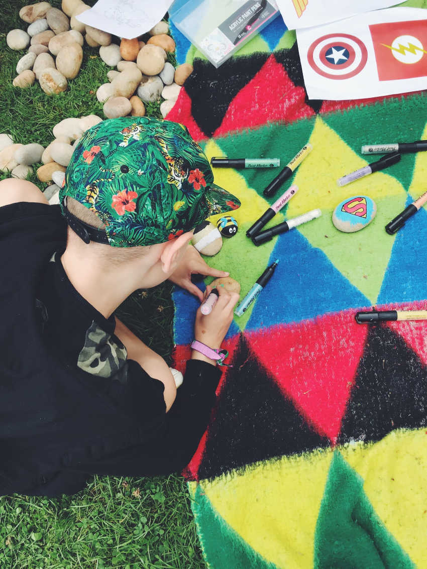 Camp bestival rock painting