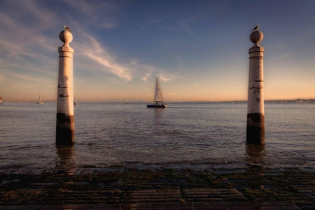 Il Cais das Colunas (Molo delle Colonne) Lisbona, Portogallo