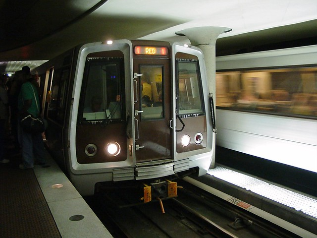Red Line train at Metro Center