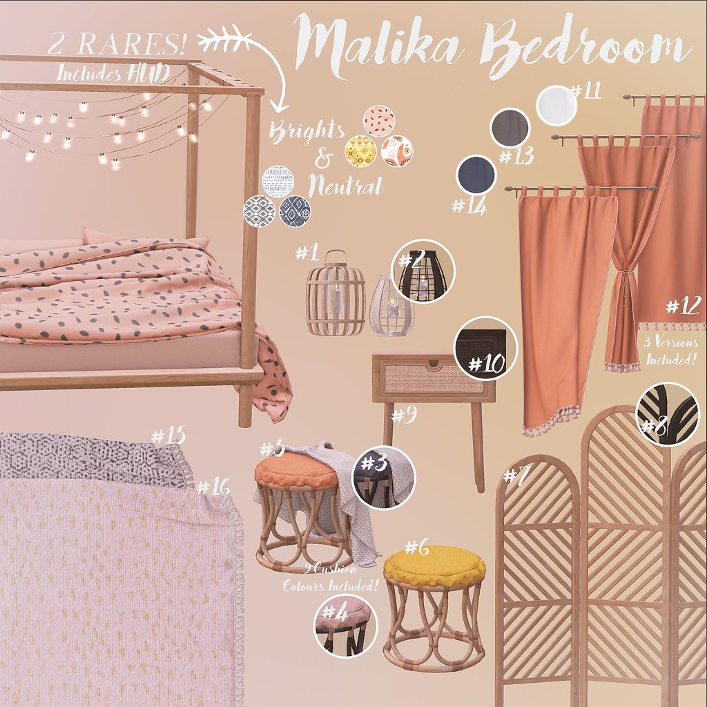Elm. Malika Bedroom Gacha for The Arcade