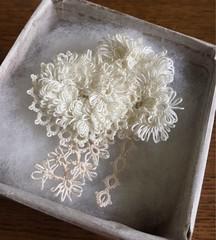 tatting lace corsage