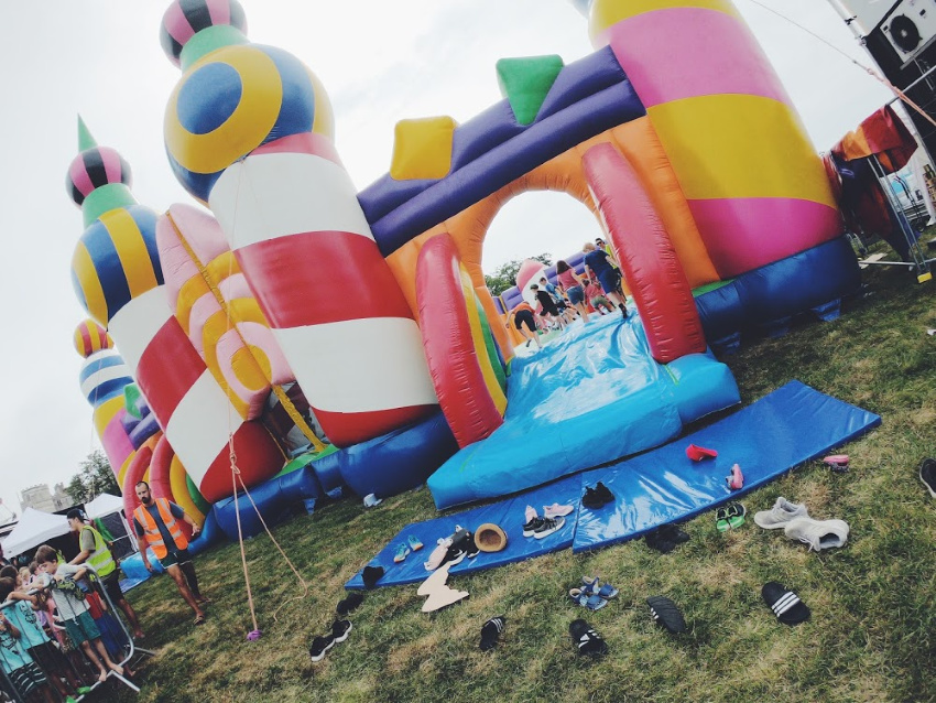 Camp Bestival Bouncy Castle