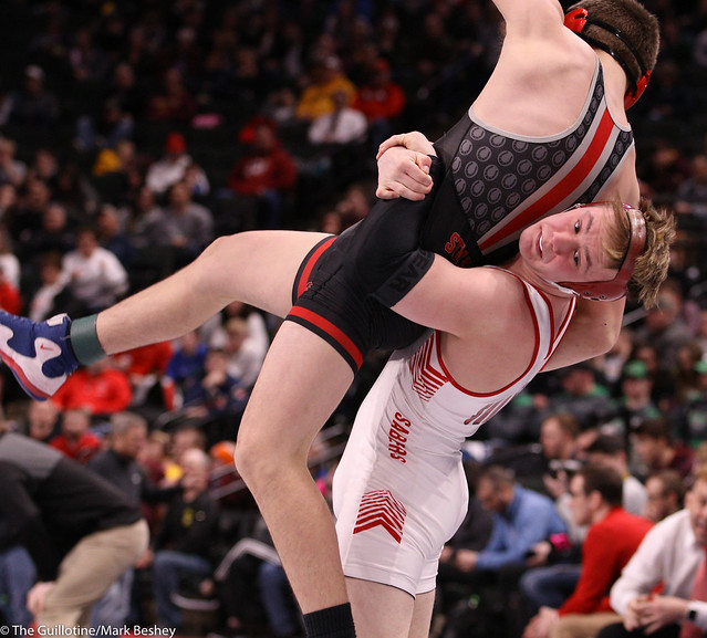 160AAA Semifinal - Carson Manville (Shakopee) 26-1 won by decision over Ryder Rogotzke (Stillwater) 41-6 (Dec 4-2)200229amk0215