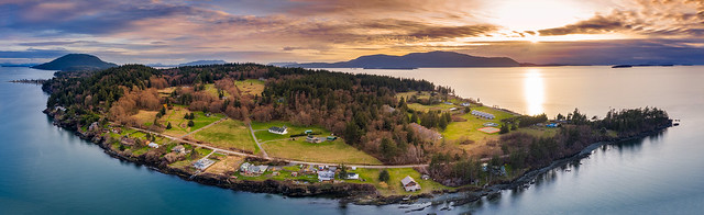 North End of Lummi Island from Above
