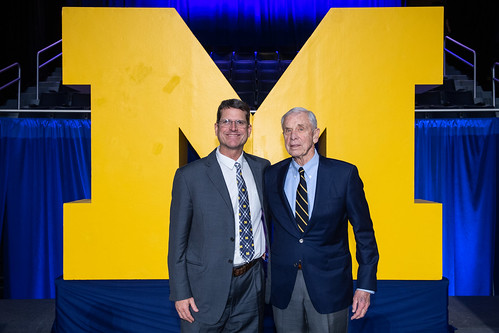 Coach Jim Harbaugh and Tom Maentz | by geraldrford