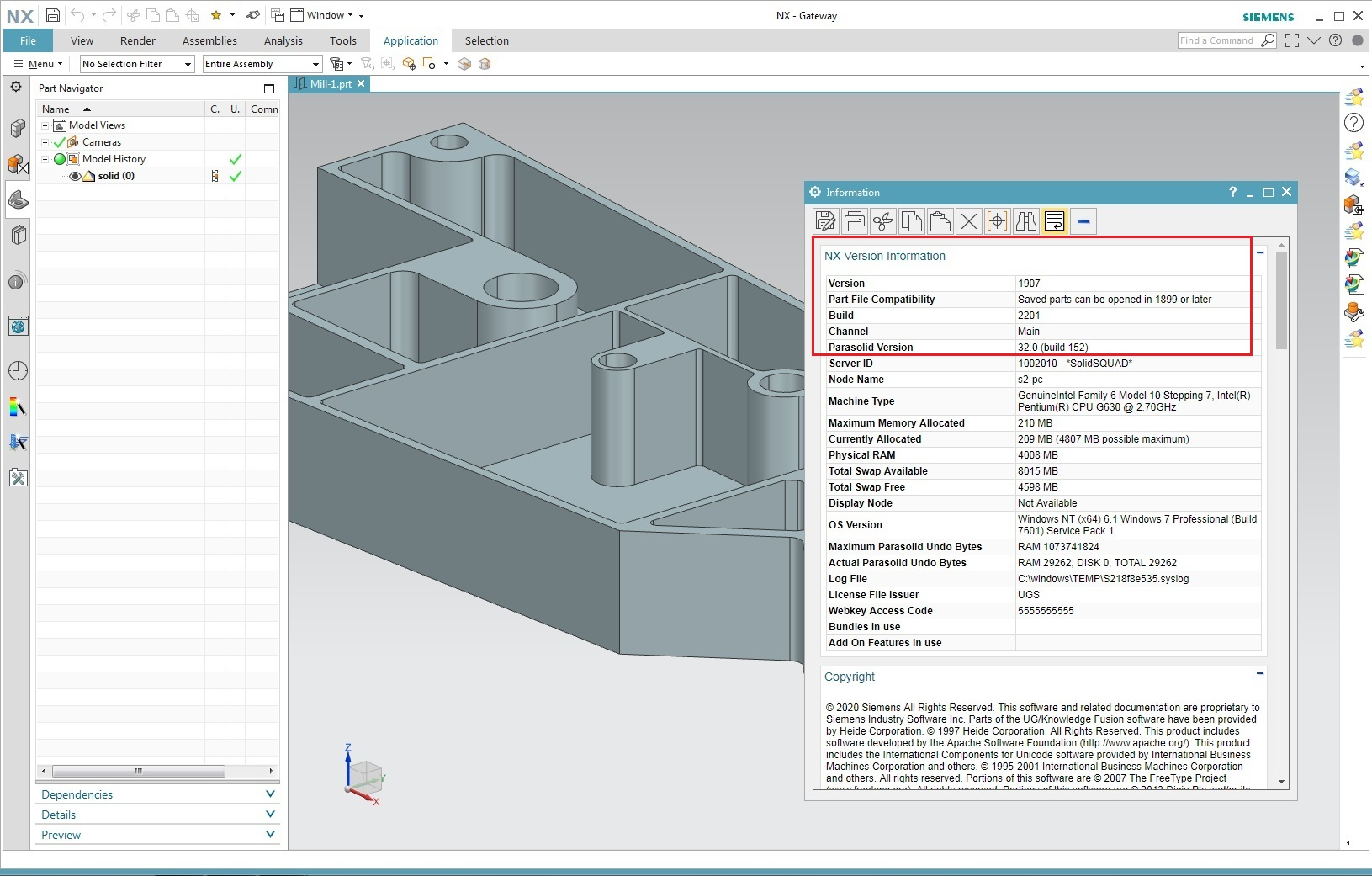 Download Siemens NX 1907 Build 2201 (NX 1899 Series) x64 full license