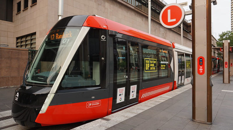 Sydney Light Rail - L2 line Circular Quay to Randwick