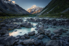 Hooker River and Mt. Cook