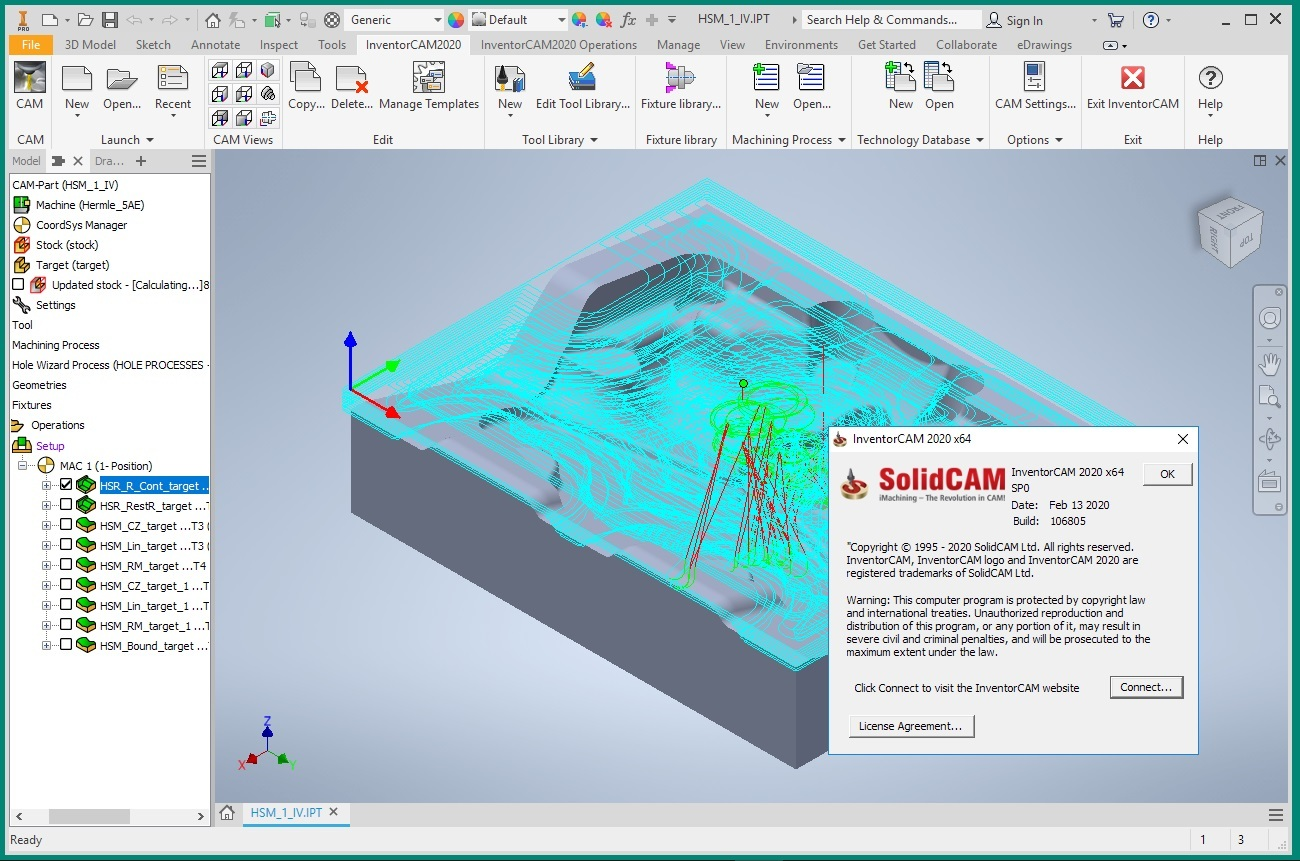 Programming with InventorCAM 2020 SP0 for Autodesk Inventor 2018-2020 full license